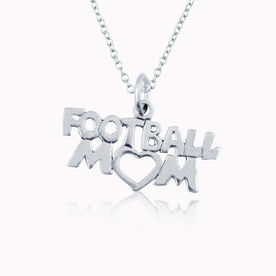 Sterling Silver Football Mom Necklace