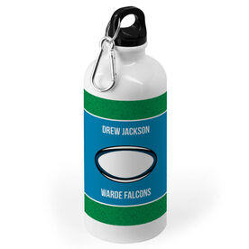 Rugby 20 oz. Stainless Steel Water Bottle - Team With Rugby Ball