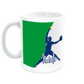 Softball Coffee Mug Personalized Pitcher