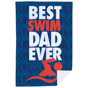 Swimming Premium Blanket - Best Dad Ever