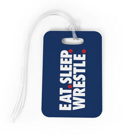 Wrestling Bag/Luggage Tag - Eat Sleep Wrestle
