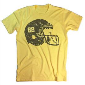 Vintage Football T-Shirt - Number Helmet