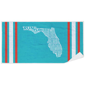 Running Premium Beach Towel - Florida State Runner