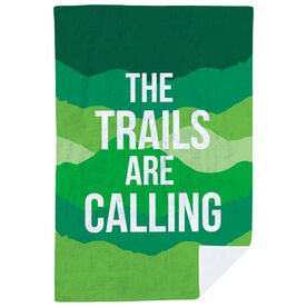 Running Premium Blanket - The Trails Are Calling