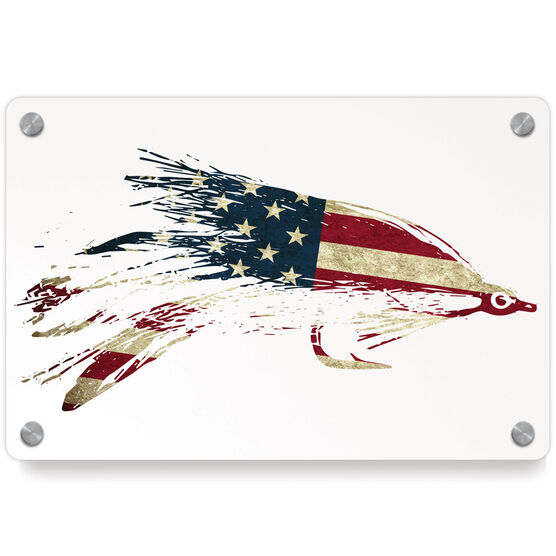 Fly Fishing Metal Wall Art Panel - American Lefty