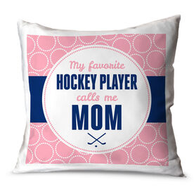 Hockey Throw Pillow My Favorite Hockey Player