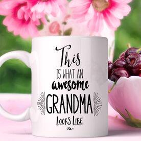What An Awesome Grandma Looks Like Personalized Coffee Mug