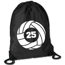 Volleyball Sport Pack Cinch Sack Volleyball With Number