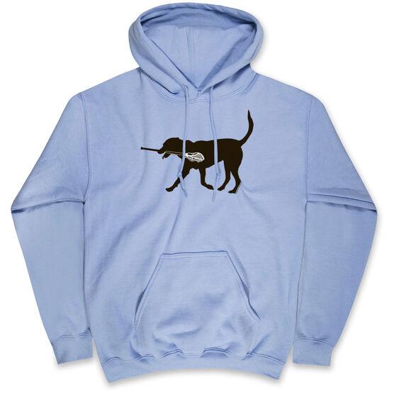 Guys Lacrosse Hooded Sweatshirt - Max The Lax Dog