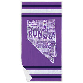 Running Premium Beach Towel - Nevada State Runner