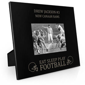 Football Engraved Picture Frame - Eat Sleep Play Football