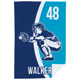 Baseball Premium Blanket - Personalized Catcher