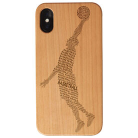 Basketball Engraved Wood IPhone® Case - Basketball Word Guy