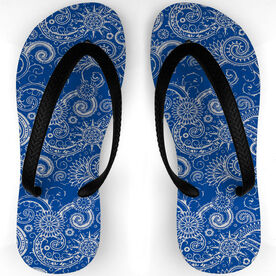 Swimming Flip Flops Octo Pattern