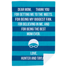 Swimming Premium Blanket - Dear Mom Heart