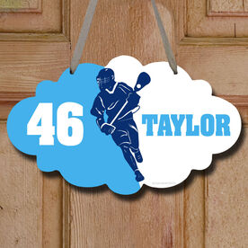Lacrosse Cloud Room Sign Personalized Lacrosse Player Silhouette
