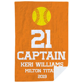 Softball Premium Blanket - Personalized Captain