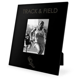 Track & Field Engraved Picture Frame - Simple Track & Field
