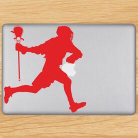 Lacrosse Guy Running Removable ChalkTalkGraphix Laptop Decal