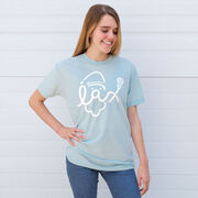 Lacrosse Short Sleeve T-Shirt - Santa Lax Face