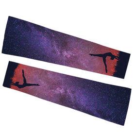 Gymnastics Printed Arm Sleeves - Starry Sky Gymnast
