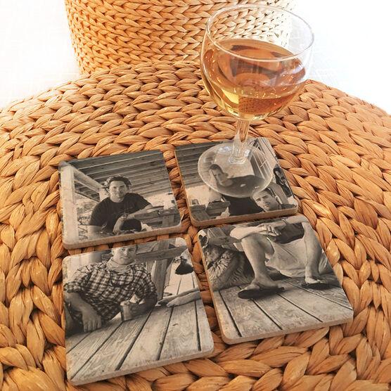 Personalized Stone Coaster Set of Four - Your Photo 4 Coasters