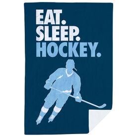 Hockey Premium Blanket - Eat. Sleep. Hockey. Vertical
