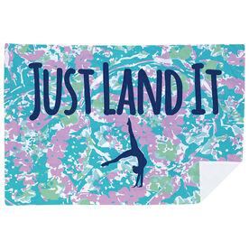 Gymnastics Premium Blanket - Just Land It