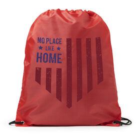 Baseball Sport Pack Cinch Sack - No Place Like Home