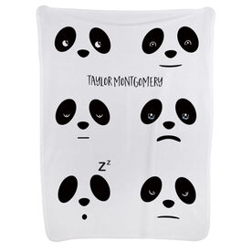Personalized Baby Blanket - Panda Expressions