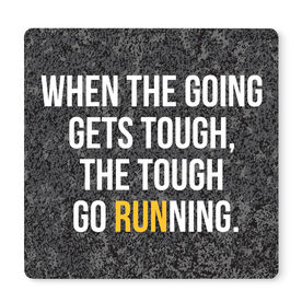 """Running 12"""" X 12"""" Removable Wall Tile - When The Going Gets Tough"""