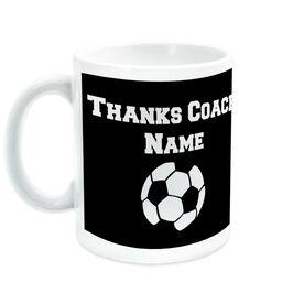 Soccer Coffee Mug Thanks Coach Ball Graphic