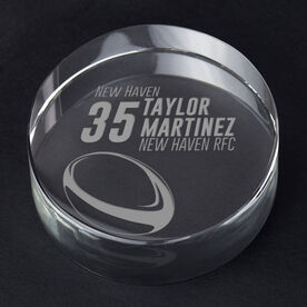 Rugby Personalized Engraved Crystal Gift - Personalized Icon