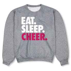 Cheerleading Crew Neck Sweatshirt - Eat Sleep Cheer