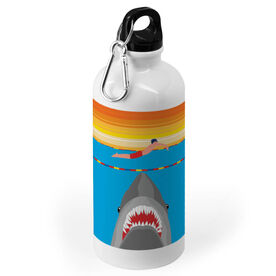 Swimming 20 oz. Stainless Steel Water Bottle - Shark Attack (Guy Swimmer)