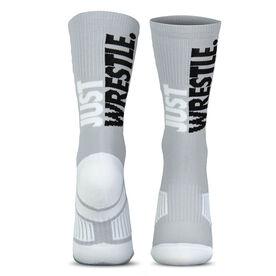 Wrestling Woven Mid-Calf Socks - Just Wrestle (Gray)