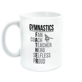 Gymnastics Coffee Mug - Gymnastics Father Words