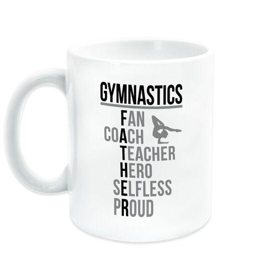 Gymnastics Coffee Mug - Gymnastics Father Words