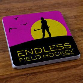 Endless Field Hockey - Stone Coaster