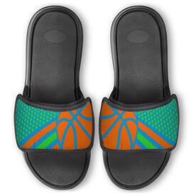 Basketball Repwell™ Slide Sandals - Basketball Dots