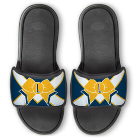 Cheerleading Repwell® Slide Sandals - Initial Bow