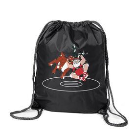 Wrestling Sport Pack Cinch Sack - Wrestling Reindeer