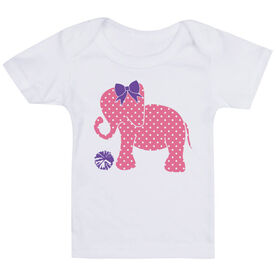 Cheerleading Baby T-Shirt - Cheerleading Elephant with Bow