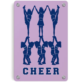 Cheerleading Metal Wall Art Panel - Cheer Pyramid