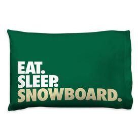 Snowboarding Pillowcase - Eat Sleep Snowboard