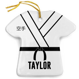 Personalized Porcelain Ornament - Karate Gi Outfit