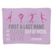 Figure Skating Baby Blanket - Birth Announcement