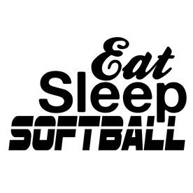 Eat Sleep Softball Vinyl Decal