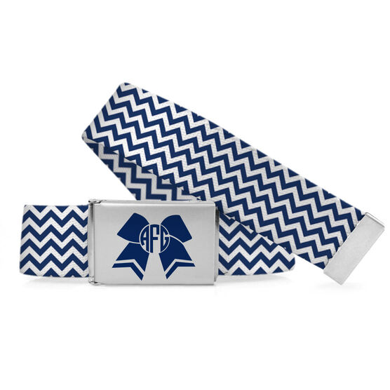 Cheer Lifestyle Belt Bow Chevron