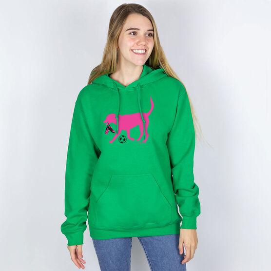 Soccer Hooded Sweatshirt - Sasha the Soccer Dog